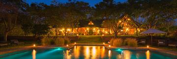 Stanley Safari Lodge, Pool and Lodge at Night