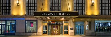 Stewart Hotel, Exterior and Entrance
