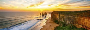 Sunset over Great Ocean Road