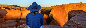 Sunset rim walk in Kings Canyon