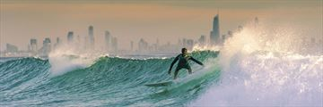 Surfing along the Gold Coast