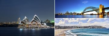 Opera House, Harbour Bridge & Bondi Beach in Sydney, Australia