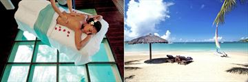 Tamarind Beach Hotel & Yacht Club, Overwater Spa Treatment and Tamarind Beach, Sun Loungers and Hobie Cat