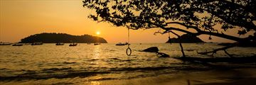 Teluk Nipah Beach at sunset, Pangkor