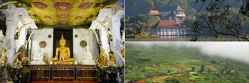 Temple of the Sacred Tooth in Kandy and Nuwara Eliya