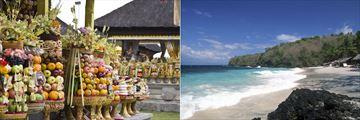 Temple Ritual & Candidasa Beach, Bali