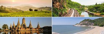 Chiang Mai, Kanchanaburi, Ayutthaya and Hua Hin