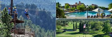 Zip line through The Rocky Mountains, relax at the infinity pool or play golf on this iconic course.