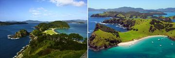 Aerial views of the stunning Bay of Islands