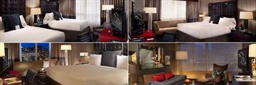 The Liaison Capitol Hill Washington, (clockwise from top left): Double Room, Superior King, Suite and Standard King