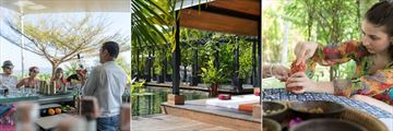 Activities at The Pavilions Phuket: cocktail classes, The Pavilions Spa and herbal workshops