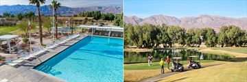 The pool and golf course at The Ranch at Death Valley