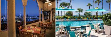 The Resort at Longboat Key Club, Portofino Restaurant and Barefoot's Poolside Dining