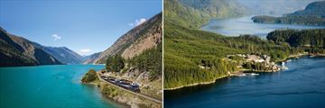 The Rocky Mountaineer & Sonora Resort Aerial