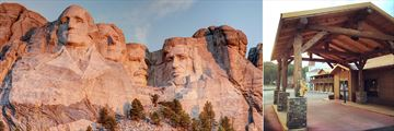 Mount Rushmore and The Rushmore Express Hotel, Exterior