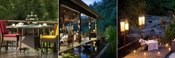 The Samaya Ubud, Coffee Service, Restaurant and Swept Away Restaurant
