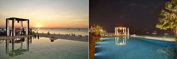 Infinity Pool at Sunset and Night at The Z Hotel