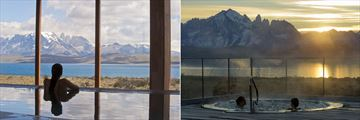Spa Pool and outdoor jacuzzi at Tierra Patagonia