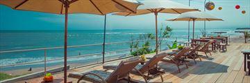 Hotel Tugu Bali, Canggu Beach, Outdoor Deck Area Overlooking The Beach
