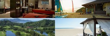 Shangri-La Rasa Rai Resort & Spa spa, beach, gardens and beach cabanas