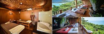 Santhiya Koh Phangan Resort & Spa, massage room and beds
