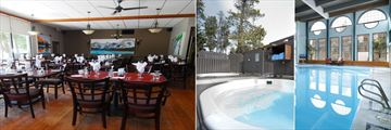 Tonquin Inn, The Whisky Jack Grill, Twin Outdoor Hot Tubs and Indoor Pool