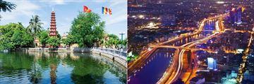 Tran Quoc Pagoda, Hanoi & Saigon cityscape