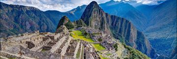 A panoramic view of Machu Picchu