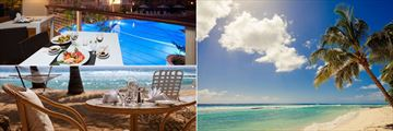 Umi Sushi terrace, beachside lunches and beach views at Sugar Bay Barbados