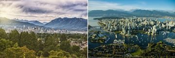 Vancouver City Skyline & Mountainous Backdrop