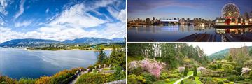 Vancouver Cityscapes & Butchart Gardens in Victoria