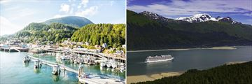 Ketchikan (left), and Juneau (right)