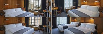 Viceroy Central Park New York Viceroy, (clockwise from top left): Deluxe Park View Room, Viceroy Superior Room, Viceroy Deluxe Double-Double Room and Viceroy Deluxe City View Room