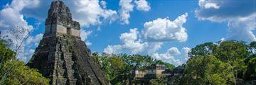 Tikal ruins and pyramids in Maya City, Tikal