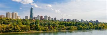 Beautiful view of Edmonton