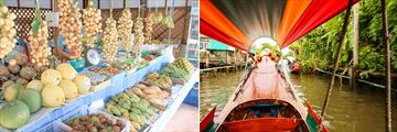 Vibrant markets and longtail boat cruises