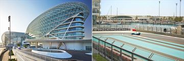 Yas Hotel Abu Dhabi, Exterior and Yas Marina Circuit