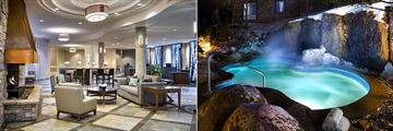 Westin Resort & Spa Tremblant, Lobby and Hot Tub