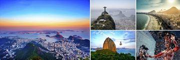 World-famous sights in Rio de Janeiro, Brazil