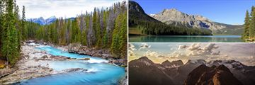 Kicking Horse River, Emerald Lake & Mount Burgess Summit, Yoho National Park