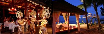 Zazen Boutique Resort, Thai Dance Evening and Beachfront Sala Romantic Dinner