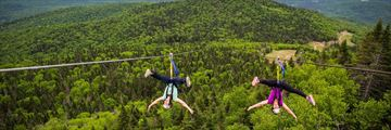 Zip lining in Mont Tremblant, Quebec