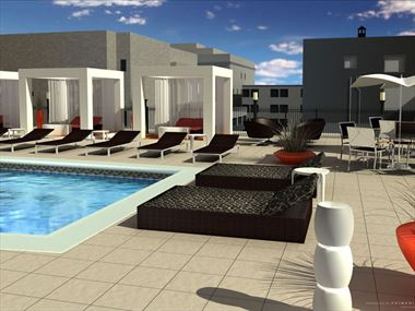 Pool rendering, The Liaison Capitol Hill