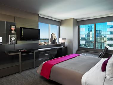 Corner view guestroom, W Times Square