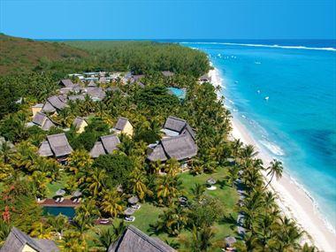Aerial view of Dinarobin Hotel Golf & Spa Resort