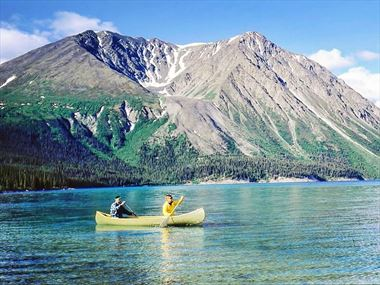Paddling in Yukon's wilderness
