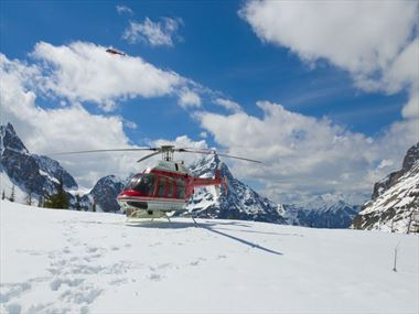 Helicopter over Banff