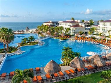 Moon Palace Cancun aerial view