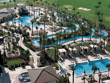 Aerial view of the pools, Omni Orlando