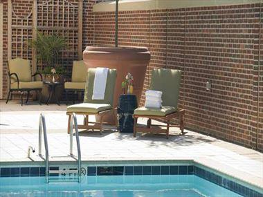 The Pool Terrace at Hilton Garden Inn
